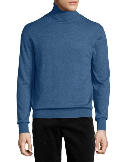 Neiman Marcus Cashmere-Silk Turtleneck Sweater