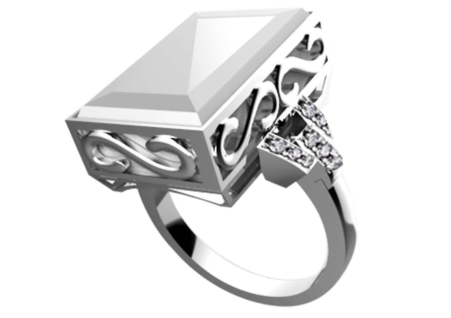 7 Ares Smart Ring Silver -White (W2 Size 8)