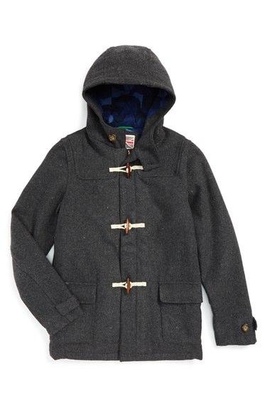 Mini Boden Hooded Duffle Coat