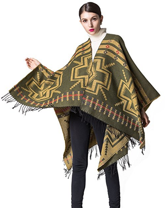 For the earth mother in your life, this wrap features a bright, upbeat Hopi design that celebrates life. Cashmere-like, it's soft, cozy and warm for the chilliest nights. Available in five colors. Was: $36.99 -- Now: $19.99 (46% off).