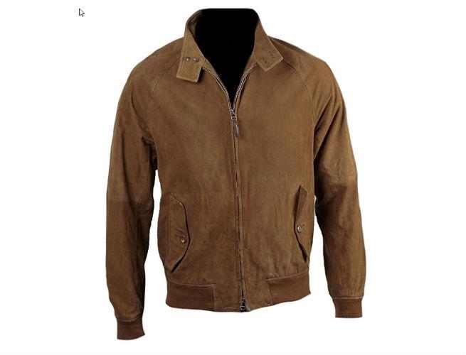 Classyak Men's Fashion Suede Leather Bomber