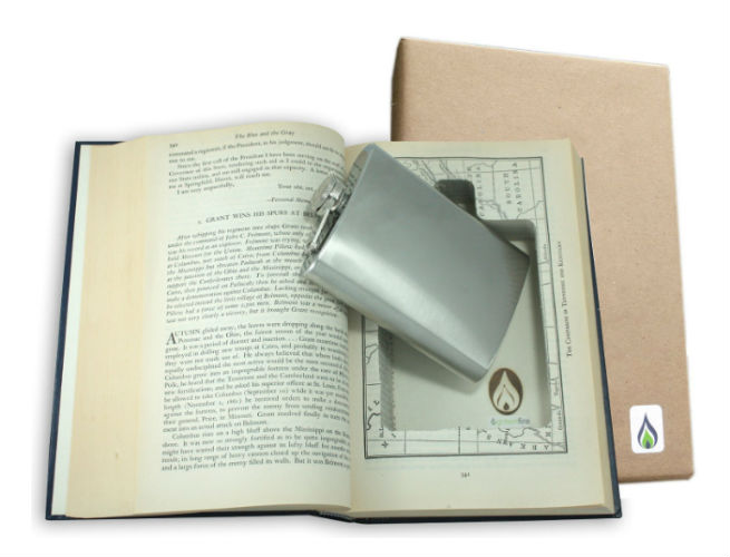 SneakyBooks Recycled Hollow Book Hidden Flask