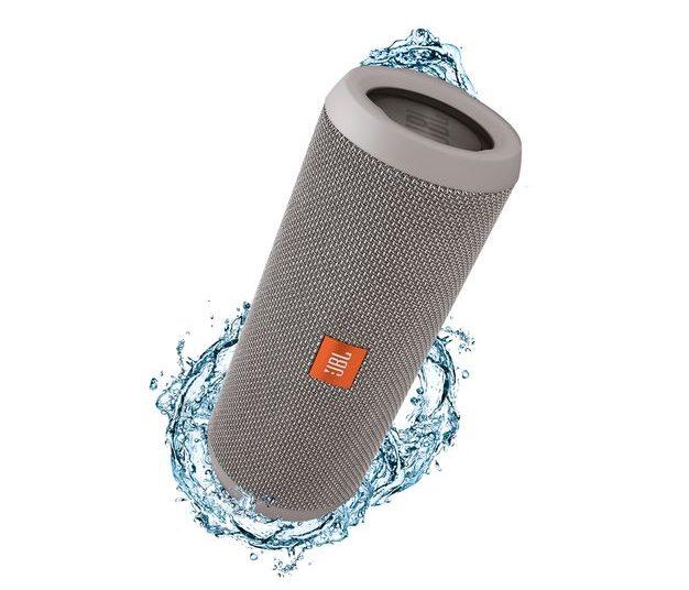 JBL Flip 3 Splashproof Portable Bluetooth Speaker (Gray)