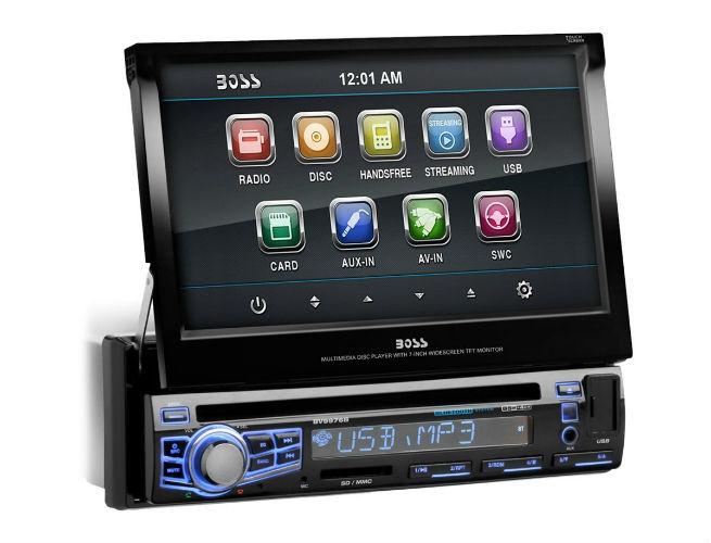 touchscreen music player car Boss Audio