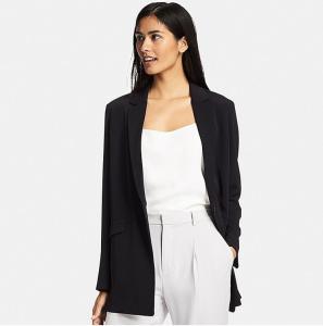 women drape long jacket uniqlo