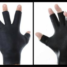 Darkfin Black OPS HD Fingerless Workout Gloves
