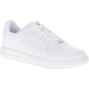The classic white sneaker as done by FUBU, these shoes feature a padded footbed, mesh upper and specially-designed sole for comfort and stability.