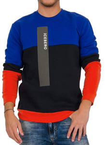 The iconic Iceberg brand makes a comeback with this thoroughly modern colorblock sweater.