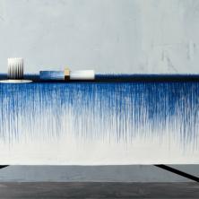 Indigo Blue Pen Tablecloth