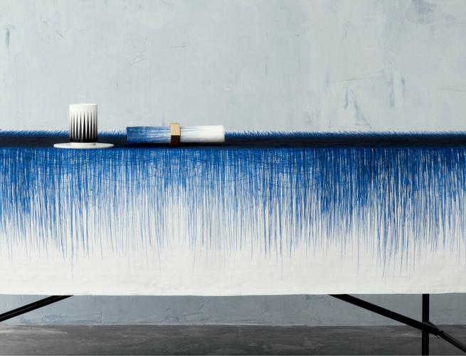 indigo blue tablecloth ferm living