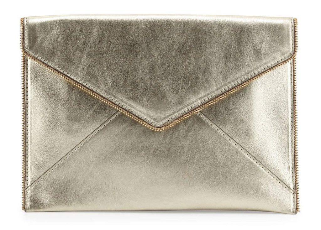Rebecca Minkoff Leo Metallic Envelope Clutch