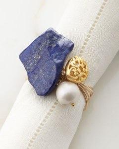 lapis lazuli napkin ring