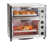NutriChef PKMFTO26 Multi-Function Dual Oven with Rotisserie and Roast Cooking