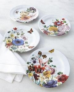 floral ceramic stoneware