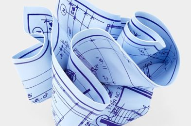 Tibor Kalman Architect's Blueprint Paperweight