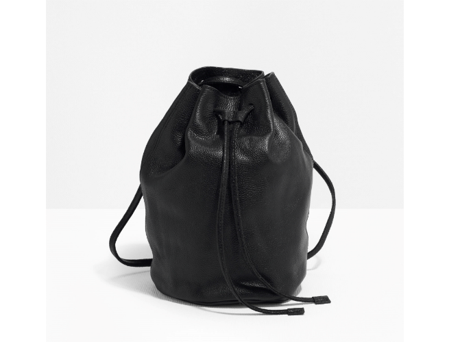 black leather backpack & Other Stories