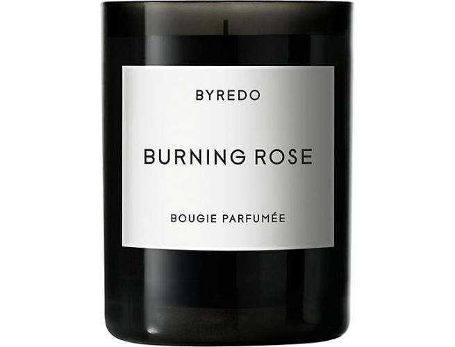 burning rose candle byredo