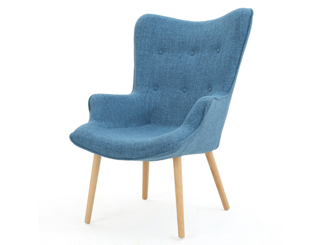 Mid-century modern office chair with comfortable