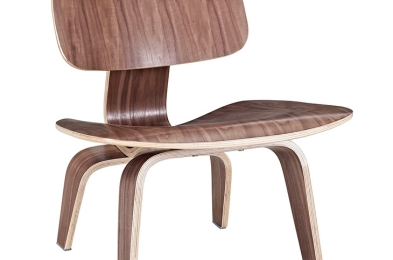 Fathom Wood Lounge Chair in Walnut