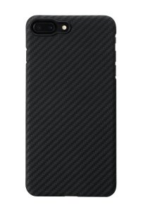 iPhone 7 Plus Case, PITAKA [Aramid Fiber] Ultra Thin Slim 0.65mm Minimalistic Phone Protective Matte Finish Shell Cover for iPhone 7 Plus- Black/Grey(Twill)