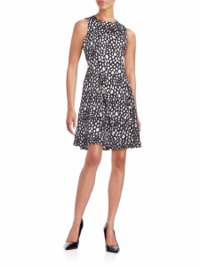 A classy yet contemporary dress featuring a mosaic-inspired print with a pleated A-line skirt. Was $138.00 Now: $69.99