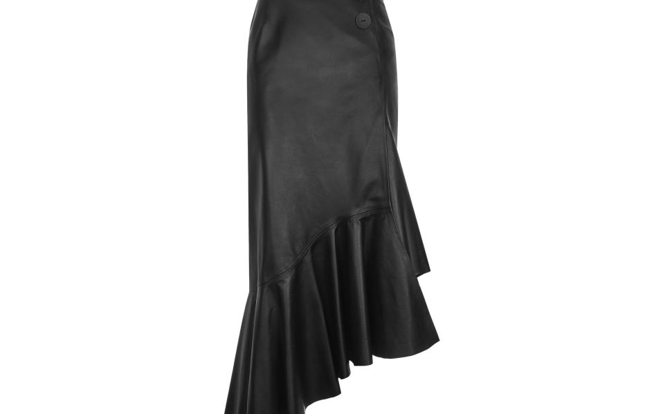 Leather Ruffle Skirt Boutique