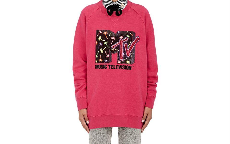 Embellished Wool Blend Sweatshirt