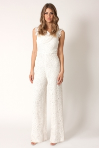 Black Halo HEIRLOOM LACE JACKIE JUMPSUIT