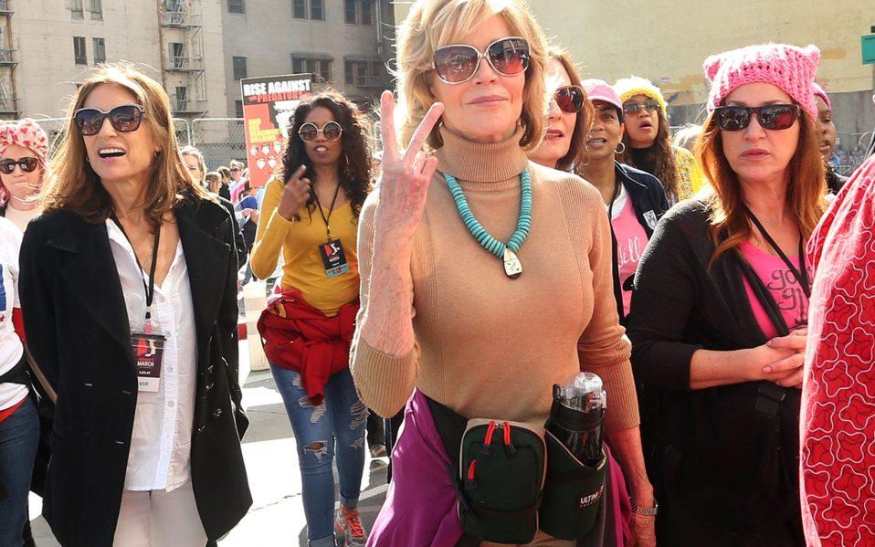 Women's March LA Jane Fonda Belt
