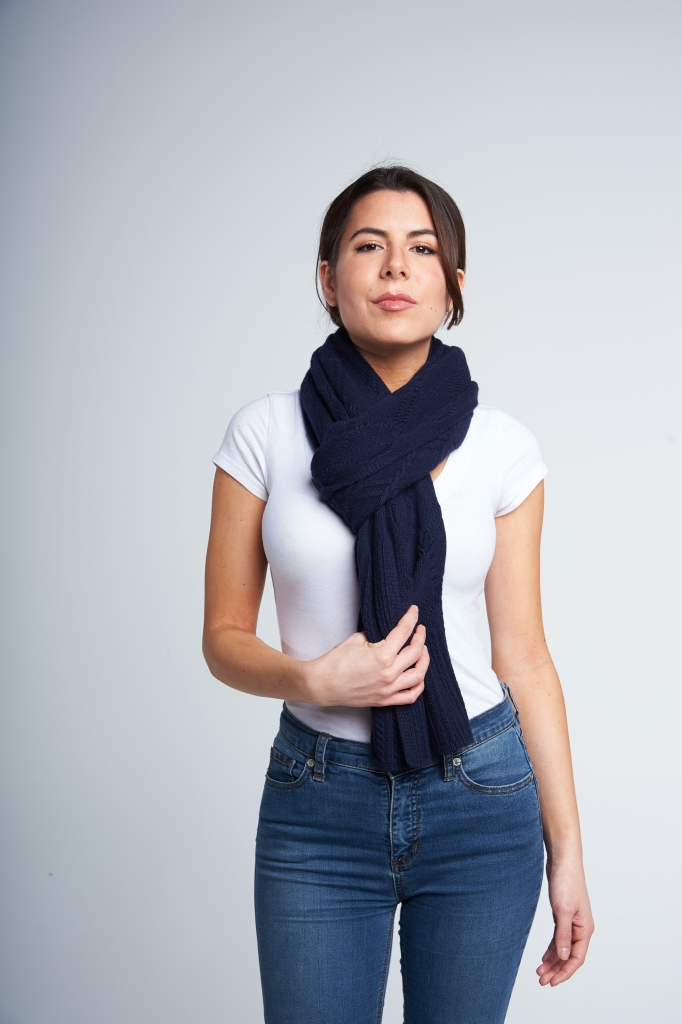 A European look that's now firmly made its way across the pond. Fold your scarf in half, grab both ends and thread it through the loop.