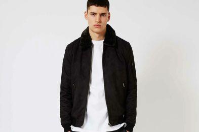 Topman_Black_Faux_Fur_Collar_Flight_Jacket
