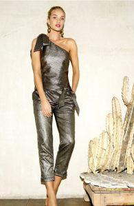 PAIGE Rosie HW x PAIGE Maisie Metallic One-Shoulder Jumpsuit