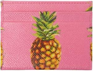 Dolce & Gabbana Pink Pineapple Card Holder
