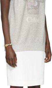 Chloé Beige Leather Cord Bracelet