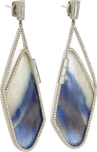 MONIQUE PÉAN ATELIER Diamond & Sapphire Slice Earrings