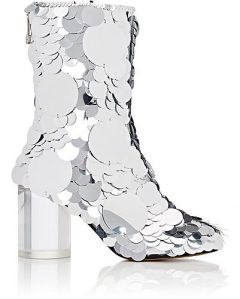 MAISON MARGIELA Paillette-Embellished Leather Ankle Boots