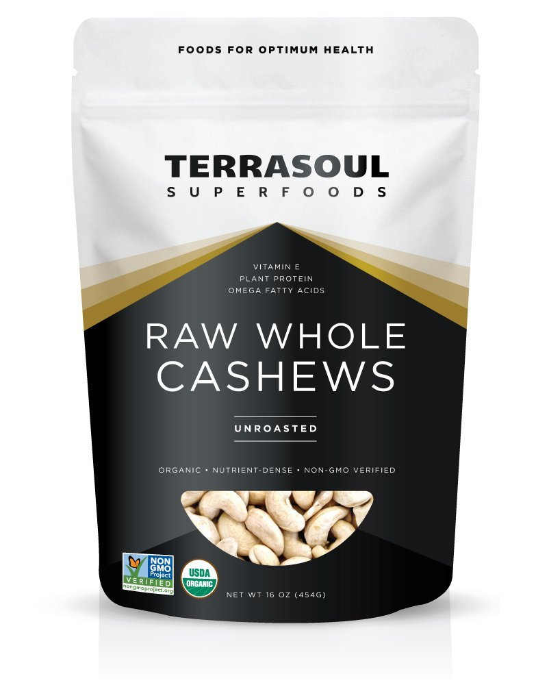 raw whole cashews