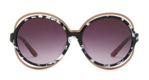 Missoni Women's Wire Embellished Oversized Round Sunglasses