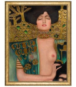 Judith Klimt I (Luxury Line) by Gustav Klimt Framed Hand Painted Oil Reproduction