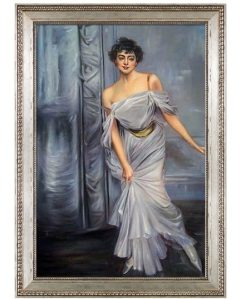 Madame Charles Max, 1896 by Giovanni Boldini Framed Hand Painted Oil Reproduction