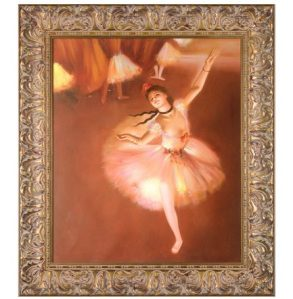 Star Dancer (On Stage) by Edgar Degas Framed Hand Painted Oil Reproduction
