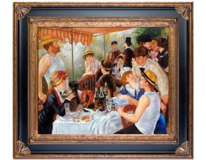 Luncheon of the Boating Party by Pierre-Auguste Renoir Framed Hand Painted Oil Reproduction