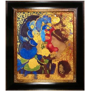 Woman Among the Flowers, 1910 (Luxury Line) by Odilon Redon Framed Hand Painted Oil Reproduction