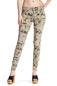 True Religion Garden Camo Print Super Skinny Jean