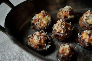 food 52 Creamy Sausage-Stuffed Mushrooms