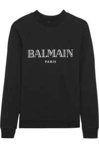 Balmain's sweatshirt features the label's iconic motif in white. It's cut from soft cotton-jersey and finished with ribbed trims for a cozy fit.