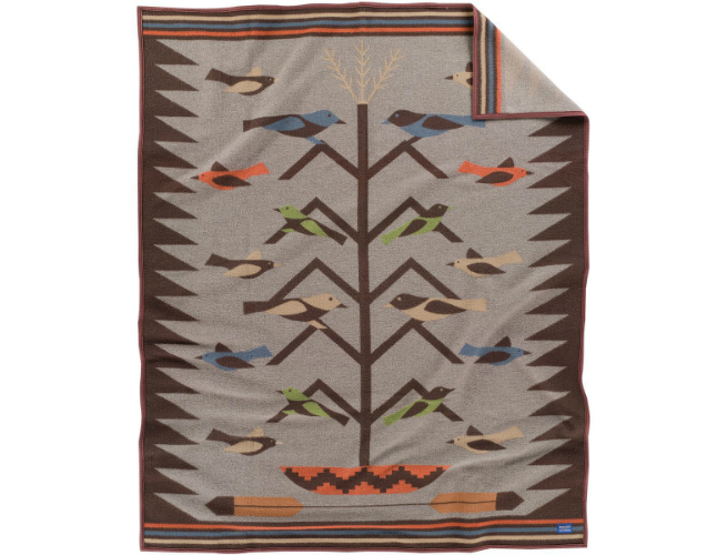 Navajo-style Southwestern Wool Blanket