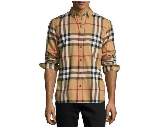 burberry shirt check cotton flannel