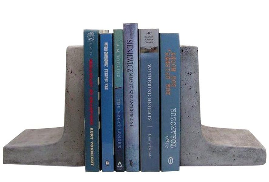 heavy bookends Scoutmob home modern concrete