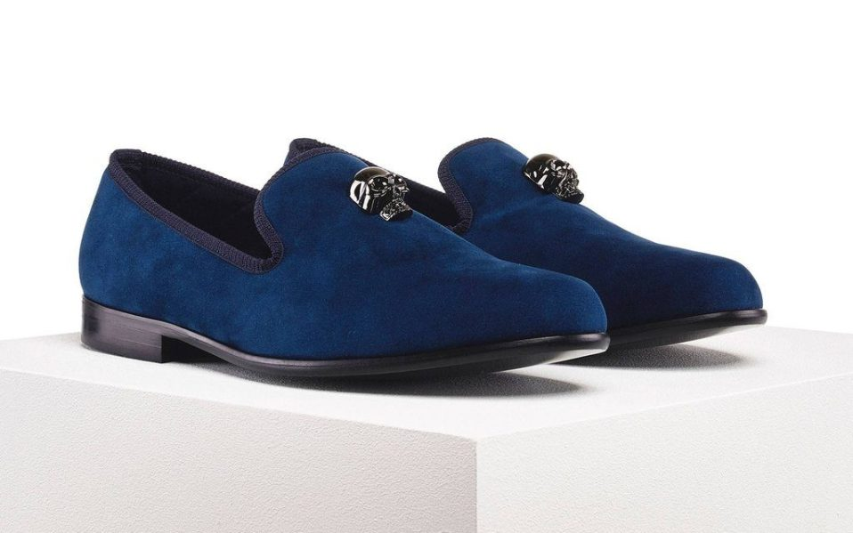 Duke & Dexter's Skulled Blue Loafer